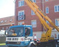 The same Cherry Picker from an alternative view showing the MW Access logo