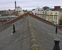 Roof top looking at Blackpool Tower